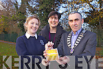 Presentation Seconary school Transition Year student Shelley Hynes has been chosen as the Young Ambassador of the 21st Century Lions Club 2012 Tralee area and will go on to represent her area in Cork in the coming weeks. Pictured from l-r were: Shelley Hynes, Norma Foley (teacher) and John Naughton (President of Tralee Lions Club).