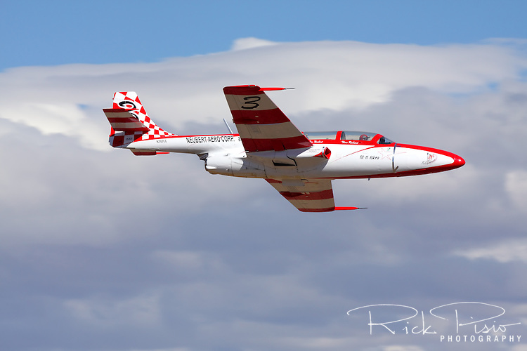 Polish designed and built TS-11 Iskra during a race at the 2010 National Championship Air Races at Stead Field in Nevada. The Iskra was designed as a jet trainer and used by the air forces of Poland and India.