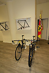 The Ferrari collection on display in the showroom, Colnago Factory, Cambiago, Italy. 30th September 2015.<br /> Picture: Eoin Clarke | Newsfile