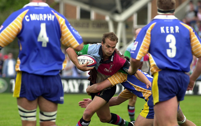 Photo: Greig Cowie.14-09-2002.ZURICH PREMIERSHIP.HARLEQUINS V LEEDS. THE STOOP..Nathan Williams