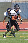 Torrance, CA 09/05/13 - Cameron Ghaffari (Peninsula #10) in action during the Peninsula vs North Junior Varsity football game played at North High School in Torrance, California.
