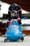 19 November 2005: Ivan Sola pilots the Croatia 1 sled to a 36th place finish at the 2005 FIBT AIT World Cup Men's 2-Man Bobsleigh Tour at the Verizon Sports Complex, in Lake Placid, NY. Mandatory Photo Credit: Ed Wolfstein.