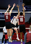 KENOSHA, WI - APRIL 28:  Springfield's Sean Zuvich delivers a kill past the Stevens Institute defense the Division III Men's Volleyball Championship held at the Tarble Athletic and Recreation Center on April 28, 2018 in Kenosha, Wisconsin. (Photo by Steve Woltmann/NCAA Photos via Getty Images)