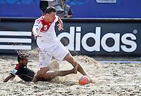 RAVENNA, ITALIA, 08 DE SETEMBRO DE 2011 - COPA DO MUNDO DE BEACH SOCCER - Yuri Krasheninnikov, da Rússia (acima), durante de partida contra o México, válida pelas quartas de final da Copa do Mundo de Beach Soccer, no Estádio Del Mare, em Ravenna, Itália, nesta quinta-feira (8). FOTO: VANESSA CARVALHO - NEWS FREE