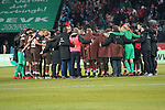 08.02.2019, RheinEnergieStadion, Koeln, GER, 2. FBL, 1.FC Koeln vs. FC St. Pauli,<br />  <br /> DFL regulations prohibit any use of photographs as image sequences and/or quasi-video<br /> <br /> im Bild / picture shows: <br /> Spielerkreis Köln nach Ende des Spiels <br /> <br /> Foto © nordphoto / Meuter