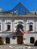 Rathaus am nam.SNP  in Banska Bystrica, Banskobystricky kraj, Slowakei, Europa<br /> Town hall at  nam. SNP in Banska Bystrica, Banskobystricky kraj, Slovakia, Europe