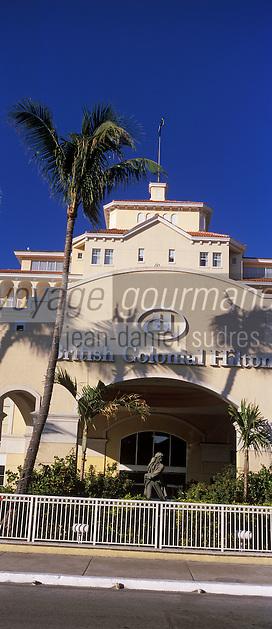 Iles Bahamas / New Providence et Paradise Island / Nassau: British Colonial Hilton l'hotel ou furent tournés de nombreux James Bond