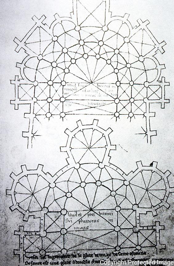 Visual Arts:  Villard De Honnecourt, Plate 48.  THE SKETCHBOOK OF VILLARD DE HONNECOURT.