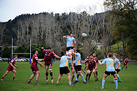 Action from the Otago premier club rugby union match between University and AU Broncos at Logan Park in Dunedin, New Zealand on Saturday, 4 July 2020. Photo: Joe Allison / lintottphoto.co.nz