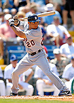 13 March 2007: Detroit Tigers infielder Omar Infante in the action against the Los Angeles Dodgers at Holman Stadium in Vero Beach, Florida.<br /> <br /> Mandatory Photo Credit: Ed Wolfstein Photo