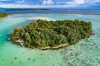 Luftaufnahme von Lologhan Island, Russell Islands, Salomonen, Salomonensee, Pazifik / Aerial View of Lologhan Island, RusselI Islands, Solomons, Solomon Sea, Pacific Ocean