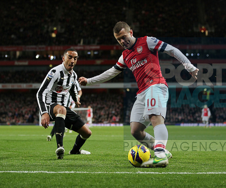 Arsenal's Jack Wilshere in action..- Arsenal  v  Newcastle United - Barclays Premier League - the Emirates Stadium, London- 29/12/12 - Picture David Klein/Sportimage