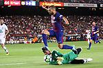 52e Trofeu Joan Gamper.<br /> FC Barcelona vs Chapecoense: 5-0.<br /> Elias vs Jordi Alba.