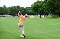 Bill Haas (USA) hits his second shot on 1 during round 4 of the Dean &amp; Deluca Invitational, at The Colonial, Ft. Worth, Texas, USA. 5/28/2017.<br /> Picture: Golffile | Ken Murray<br /> <br /> <br /> All photo usage must carry mandatory copyright credit (&copy; Golffile | Ken Murray)