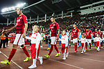 Guangzhou players Feng Xiaoting (L) Zhang Linpeng (C) getting into the field during the AFC Champions League 2017 Group G match between Guangzhou Evergrande FC (CHN) vs Kawasaki Frontale (JPN) at the Tianhe Stadium on 14 March 2017 in Guangzhou, China. Photo by Marcio Rodrigo Machado / Power Sport Images