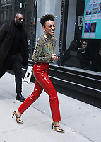 January 16,  2019  Sonequa Martin-Green at Build Series to talk about the 2nd season of Star Trek Discovery in New York January 16, 2019  Credit:RW/MediaPunch