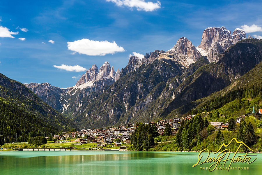 Auronzo di Cadore, a beautiful Tyrolean village high in the amazing peaks of the Dolomite Alps of Northern Italy