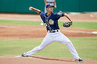 San Antonio Missions pitcher Colin Rea (29) delivers a pitch to the plate during the Texas League baseball game against the Midland RockHounds on June 28, 2015 at Nelson Wolff Stadium in San Antonio, Texas. The Missions defeated the RockHounds 7-2. (Andrew Woolley/Four Seam Images)