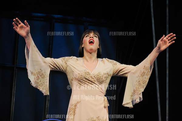 Michelle Ryan as Sally Bowles in 'Cabaret'  at the Savoy Theatre, London. 08/10/2012 Picture by: Steve Vas / Featureflash