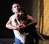 Cocteau Voices - Duet for One Voice and La Voix Humaine<br /> a double - bill of opera &amp; dance at the Royal Opera House, Linbury Studio Theatre, London, Great Britain <br /> rehearsal <br /> 15th June 2011<br /> <br /> Duet for One Voice<br /> Choreography by Aletta Collins<br /> <br /> Omar Gordon <br /> Hye Kyoung Kim <br /> <br /> Photograph by Elliott Franks
