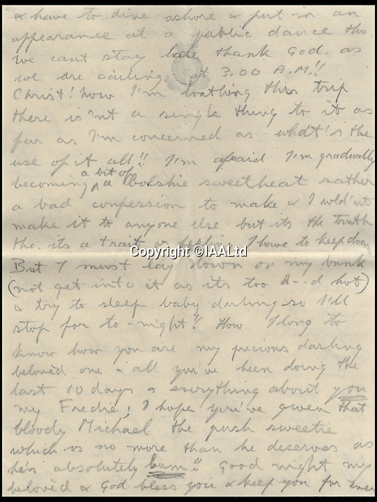BNPs.co.uk (01202 558833)<br /> Pic: IAALtd/BNPS <br /> <br /> ***Use Full Byline***<br /> <br /> Page thirteen of Edward VIII letter. <br /> <br /> A remarkable letter written by controversial monarch Edward VIII that exposes him as an ungrateful, sexist and racist prince has come to light.<br /> The Prince of Wales, who later became the first King to voluntarily abdicate, told of the 'miserable and loathsome' time he was having on a Caribbean cruise.<br /> He visited Barbados in 1920 in what was supposed to be a diplomatic trip of the British Empire but he described the tropical paradise as a 'bum place'.<br /> The Royal reported the local scenery as being 'ugly' and he found the 'coloured population' to be 'revolting'.<br /> The letter is being sold on Saturday in London.