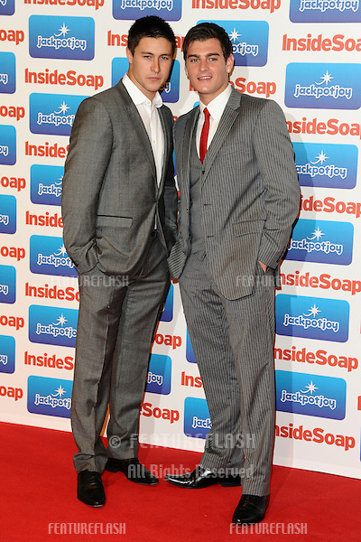 Tony Discipline and Matt Lapinskas arriving for the Inside Soap Awards 2011 at Gilgamesh, Camden, London. 26/09/2011 Picture by: Steve Vas /  Featureflash