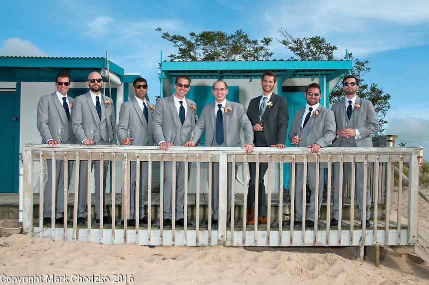 Matt with his groomsmen.