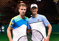 Rotterdam, The Netherlands, 11 Februari 2019, ABNAMRO World Tennis Tournament, Ahoy, first round match: Andreas Seppi (ITA) - Peter Gojowczyk (GET) (L), Photo: www.tennisimages.com/Henk Koster