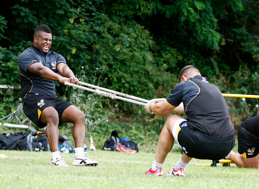 Photo: Richard Lane/Richard Lane Photography. Wasps Pre Season Training. 08/07/2014. Simon McIntyre.