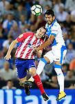 CD Leganes' Mauro Dos Santos (r) and Atletico de Madrid's Diego Godin during La Liga match. September 30,2017. (ALTERPHOTOS/Acero)