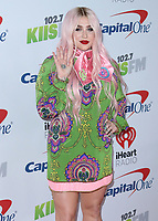 LOS ANGELES- DECEMBER 1:   Kesha at the 102.7 KIIS FM's Jingle Ball 2017 at the Forum on December 1, 2017 in Los Angeles, California. (Photo by Scott Kirkland/PictureGroup)