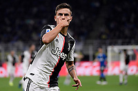 Paulo Dybala of Juventus celebrates after scoring the goal of 0-1 for his side <br /> Milano 6-10-2019 Stadio Giuseppe Meazza <br /> Football Serie A 2019/2020 <br /> FC Internazionale - Juventus FC <br /> Photo Federico Tardito / Insidefoto