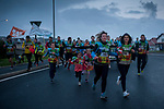 "People run on the 20th Korrika. Bidarte (Basque Country) April 2, 2017. The ""Korrika"" is a relay course, with a wooden baton that passes from hand to hand without interruption, organised every two years in a bid to promote the basque language. The Korrika runs over 11 days and 10 nights, crossing many Basque villages and cities, totalling some 2300 kilometres. Some people consider it an honour to carry the baton with the symbol of the Basques, ""buying"" kilometres to support Basque language teaching. (Gari Garaialde / Bostok Photo)"