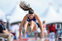 Shae Johnson of UT-Arlington competes in first round of triple jump during West Preliminary Track & Field Championships at John McDonnell Field, Friday, May 30, 2014 in Fayetteville, Ark. (Mo Khursheed/TFV Media via AP Images)