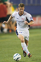 Pat Noonan of the Revolution. The NY/NJ MetroStars were defeated by the New England Revolution 2-1 on 9/13/03 at Giant's Stadium, NJ..
