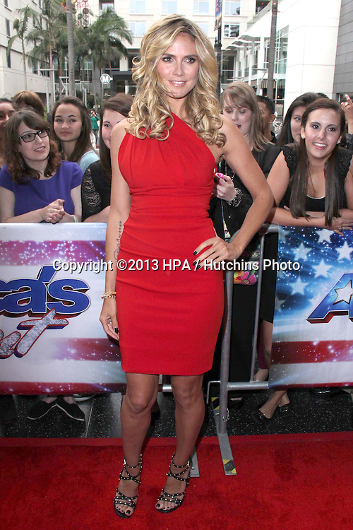"""LOS ANGELES - APR 24:  Heidi Klum arrives at the """"America's Got Talent"""" Los Angeles Auditions at the Pantages Theater on April 24, 2013 in Los Angeles, CA"""