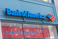 A Bank of America branch is pictured in New York City, NY Thursday August 4, 2011. Bank of America Corporation (NYSE: BAC) is an American multinational banking and financial services corporation.