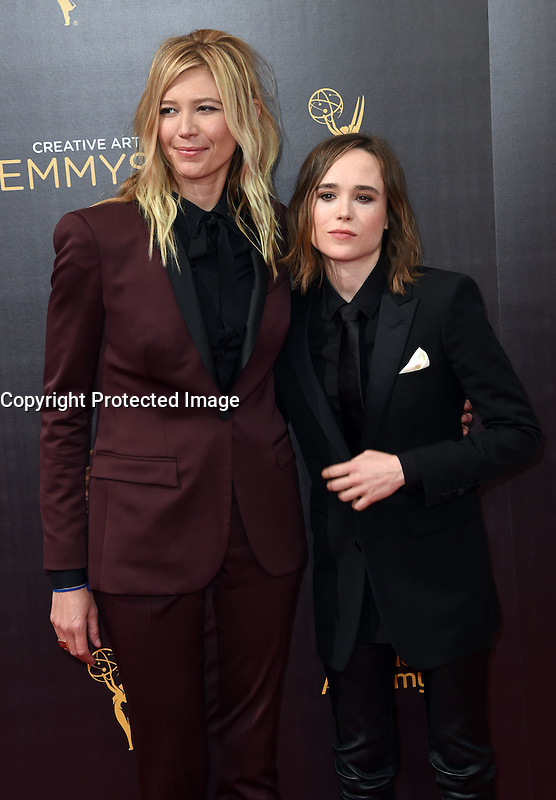 Ellen Page + Samantha Thomas @ the 2016 Creative Arts Emmy Awards held @ the Microsoft theatre. September 11, 2016