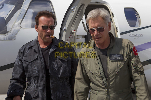 Arnold Schwarzenegger, Harrison Ford<br /> in The Expendables 3 (2014) <br /> *Filmstill - Editorial Use Only*<br /> CAP/NFS<br /> Image supplied by Capital Pictures
