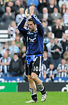 Newcastle's Michael Owen. during the Premier League match at the St James' Park Stadium, Newcastle. Picture date 5th May 2008. Picture credit should read: Richard Lee/Sportimage