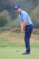 Padraig Harrington (IRL) on the 13th green during Round 3 of the Sky Sports British Masters at Walton Heath Golf Club in Tadworth, Surrey, England on Saturday 13th Oct 2018.<br /> Picture:  Thos Caffrey | Golffile