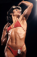 Atlantic City, April, 24, 1981. Deborah Diana at the Women's World Bodybuilding Championships.