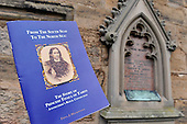 Anstruther and Cellardyke - image of Princess Titaua of Thahiti and her memorial stone on the wall of the church - picture by Donald MacLeod - 09.03.13 - 07702 319 738 - clanmacleod@btinternet.com - www.donald-macleod.com