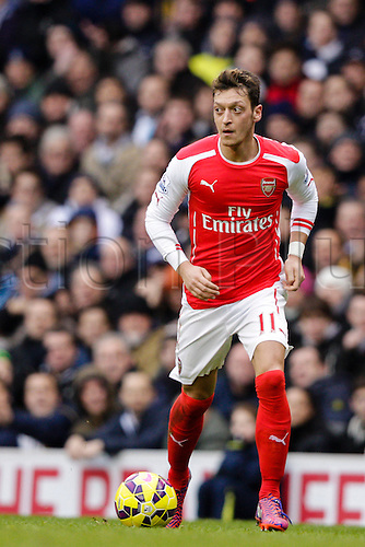 07.02.2015.  London, England. Barclays Premier League. Tottenham Hotspur versus Arsenal.  Arsenal's Mesut Ozil in action