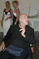 artist Chuck Close at the Parish Museum Gala in Southampton, NY, 2004