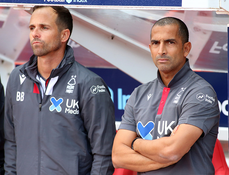 Nottingham Forest manager Sabri Lamouchi looks on before kick off<br /> <br /> Photographer David Shipman/CameraSport<br /> <br /> The EFL Sky Bet Championship - Nottingham Forest v Preston North End - Saturday 31st August 2019 - The City Ground - Nottingham<br /> <br /> World Copyright © 2019 CameraSport. All rights reserved. 43 Linden Ave. Countesthorpe. Leicester. England. LE8 5PG - Tel: +44 (0) 116 277 4147 - admin@camerasport.com - www.camerasport.com