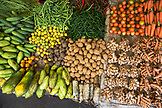 INDONESIA, Flores, produce perfectly displayed at the Bajawa market in Bajawa
