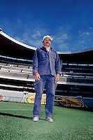 Portrait of the gardener for the Estadio Azteca. 2-19-04