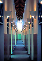 Michael Graves: San Juan Capistrano Library. Hall.  Photo '86.