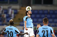 Football, Serie A: S.S. Lazio - Fiorentina, Olympic stadium, Rome, June 27, 2020. <br /> Lazio's captain Marco Parolo (c) in action during the Italian Serie A football match between S.S. Lazio and Fiorentina at Rome's Olympic stadium, Rome, on June 27, 2020. <br /> UPDATE IMAGES PRESS/Isabella Bonotto